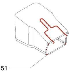 McCulloch 531213262 - Armature de sac de ramassage