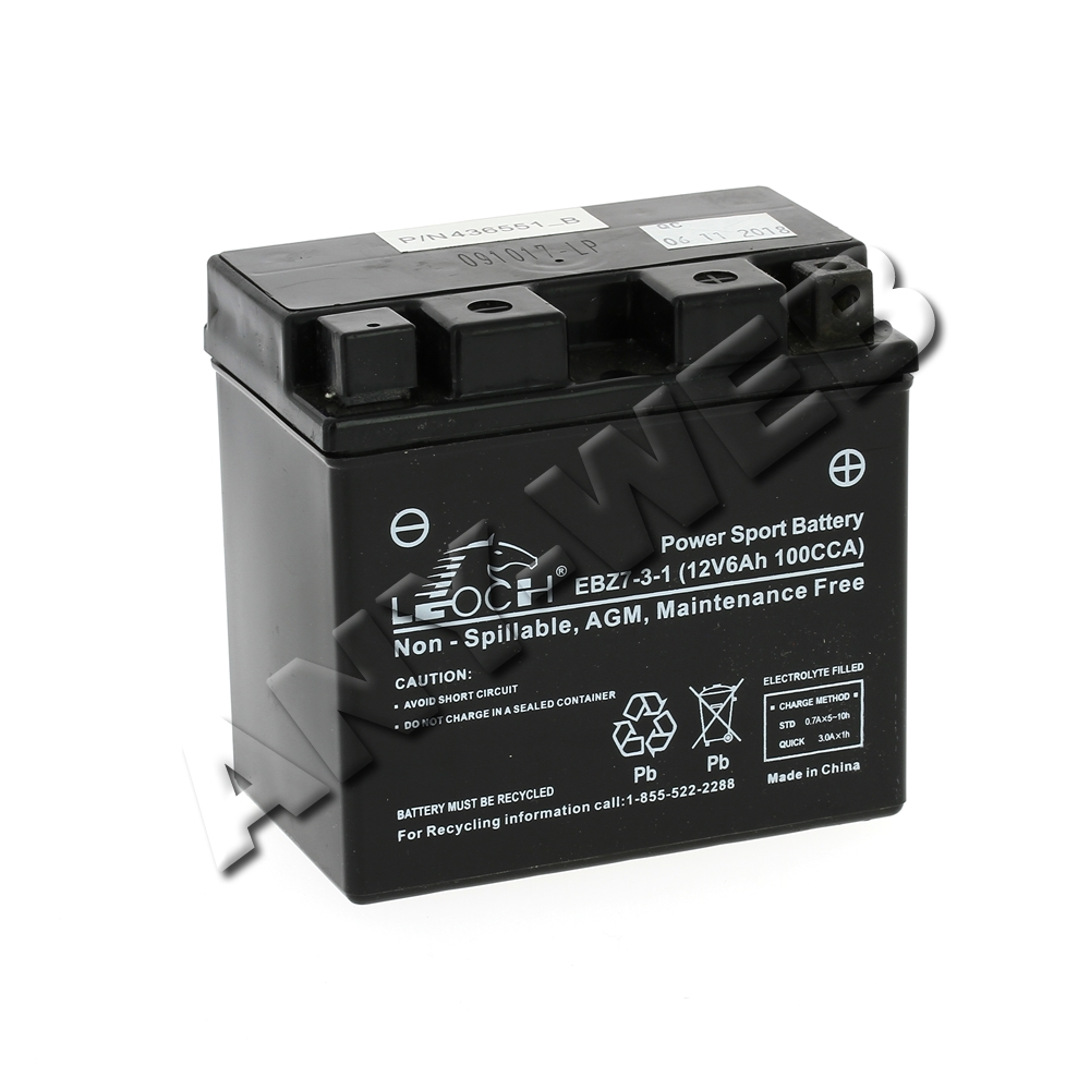 Batterie rider Mc Culloch M125 77X 12V 6A 532436551