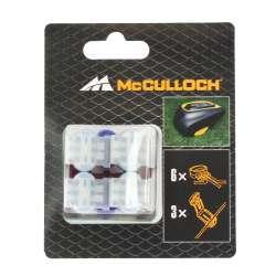McCulloch 589402501 - Connecteurs x 2 + Raccords de câble x 6 589402501 pour Rob