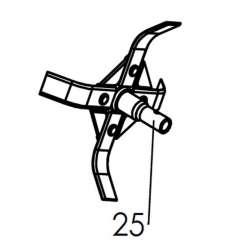 McCulloch 531008458 - Dent étoile de départ MFT44-154